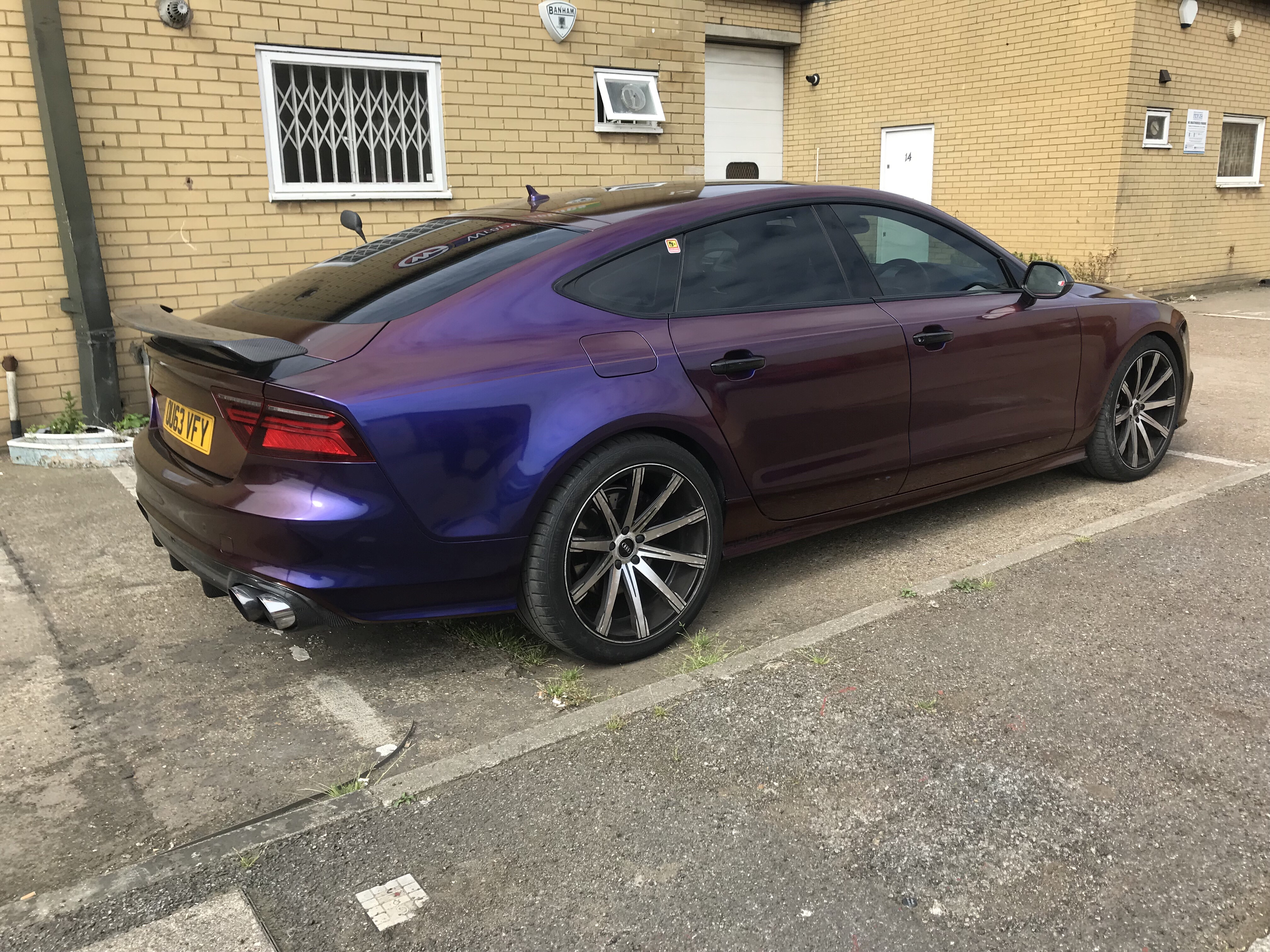 Audi A7 Car Wrap Wrapping Cars Car Wrap And Vehicle Branding London